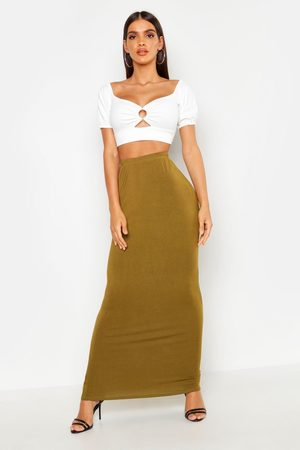 Boohoo Womens Basic Jersey Maxi Skirt - - 2