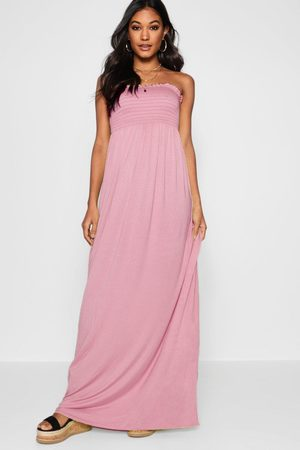 Boohoo Womens Shirred Bandeau Maxi Dress - - 2