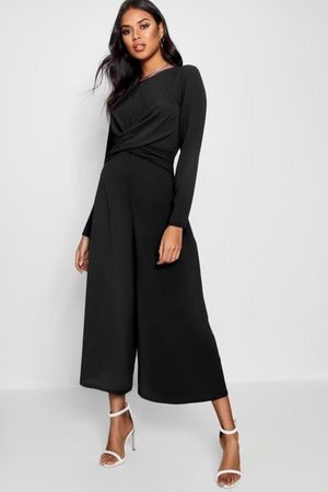 Boohoo Womens Knot Front Culotte Jumpsuit - - 2