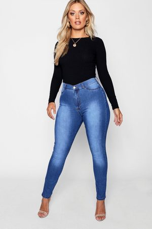 Boohoo Women High Waisted - Womens Plus Super High Waisted Power Stretch Jeans - - 12