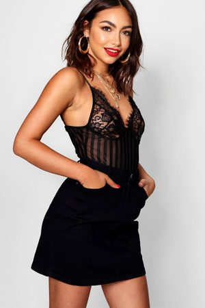 Boohoo Womens Western Style Denim Mini Skirt - - 2