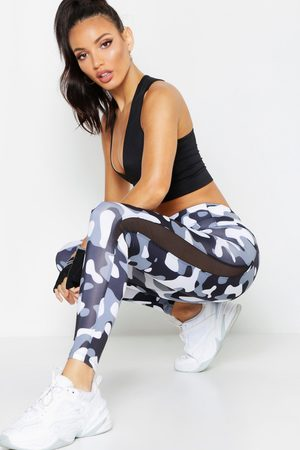 Boohoo Womens Fit Camo Running Leggings - - 2