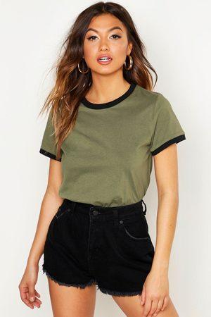 Boohoo Women T-shirts - Womens Ringer T-Shirt - - 6