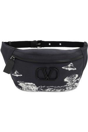 VALENTINO GARAVANI Vu Time Traveler Printed Nylon Belt Bag