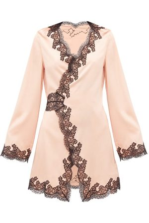 Agent Provocateur Women Pajamas - Amelea Lace-trimmed Silk-blend Pyjama Top - Womens