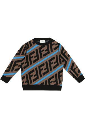 Fendi Girls Sweaters - FF wool sweater