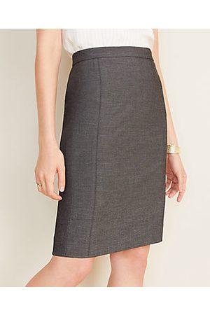 ANN TAYLOR Women Pencil Skirts - The Petite Pencil Skirt in Grey Bi-Stretch