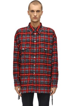 FAITH CONNEXION Oversized Check Wool Blend Shirt Jacket