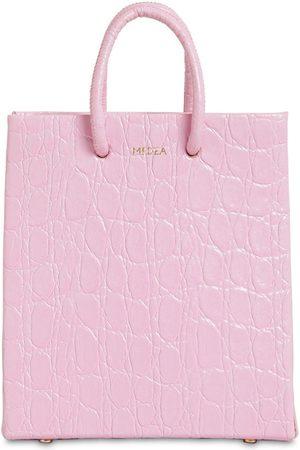 Medea Short Croc Embossed Leather Bag