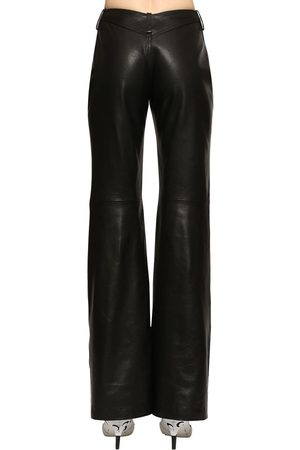 Marine Serre Straight Leg Faux Leather Pants