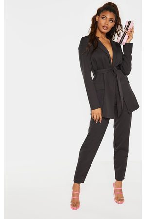 PRETTYLITTLETHING Tall Wide Leg Slim Cuff Suit Pants