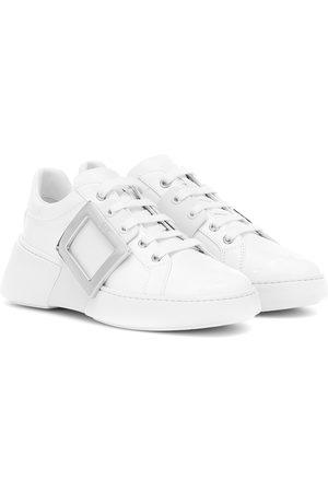 Roger Vivier Viv Skate leather sneakers