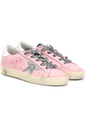 Golden Goose Superstar suede and leather sneakers