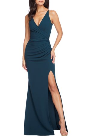 Dress The Population Women's Jordan Ruched Mermaid Gown