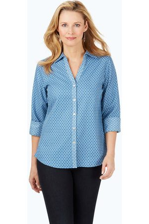 Foxcroft Collection Mary Geo Jacquard Shirt