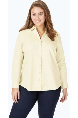 Foxcroft Collection Chrissy Plus Non-Iron Pinpoint Shirt On Sale