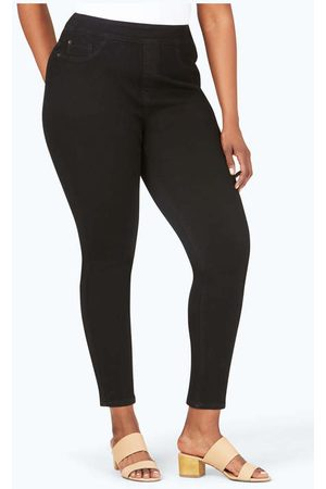 Foxcroft Collection The Uptown Plus Slim Leg Pull-On Stretch Jeans