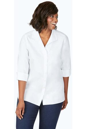 Foxcroft Collection Pandora Plus Non-Iron Pinpoint Tunic