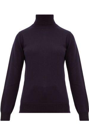 A.P.C. Women Turtlenecks - Sandra Roll-neck Wool Sweater - Womens - Navy