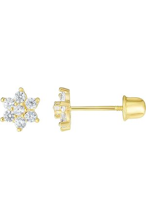 SuperJeweler 14K (0.50 g) Kids Flower Stud Earrings by