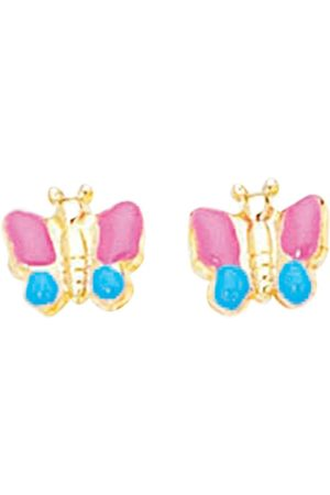 SuperJeweler Kids Earrings - 14K (1.50 g) Kids Butterfly Stud Earrings by