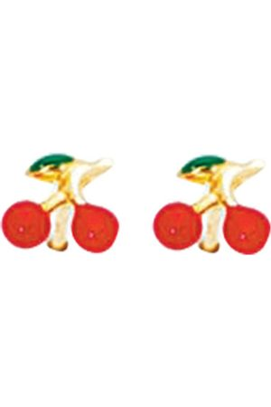 SuperJeweler 14K (0.90 g) Kids Cherry Stud Earrings by