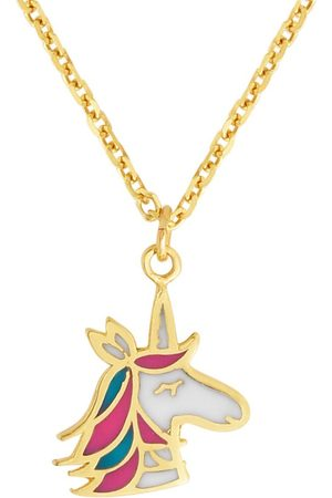 SuperJeweler 14K (1.38 g) Kids Unicorn Necklace