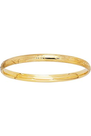SuperJeweler 14K (3.10 g) Kids Floral Bangle Bracelet