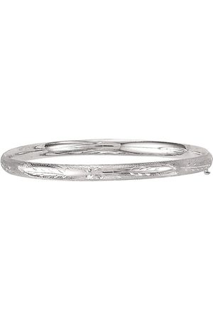 SuperJeweler 14K (3.80 g) Kids Leaf Bangle Bracelet