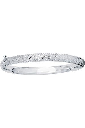 SuperJeweler 14K (3.70 g) Kids Diamond Cut Bangle Bracelet