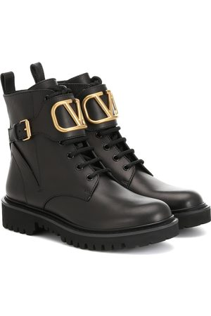 VALENTINO GARAVANI VLOGO leather ankle boots