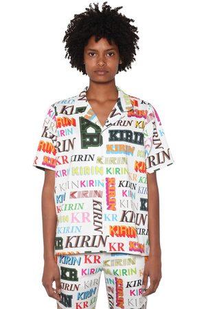 KIRIN Women Shirts - Logo Printed Cotton Drill Shirt