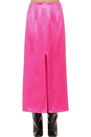 Marni High Waist Satin Midi Skirt