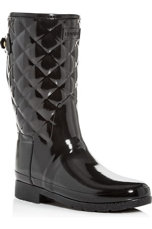 Hunter Women's Refined Quilted Gloss Rain Boots