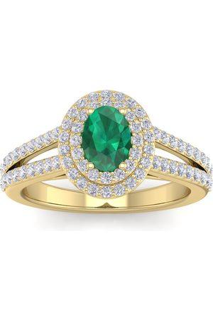 SuperJeweler 1 3/4 Carat Oval Shape Emerald Cut & Halo 76 Diamond Ring in 14K (5.20 g)
