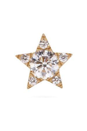 Maria Tash Women Earrings - Star Small Diamond & 18kt Single Earring - Womens