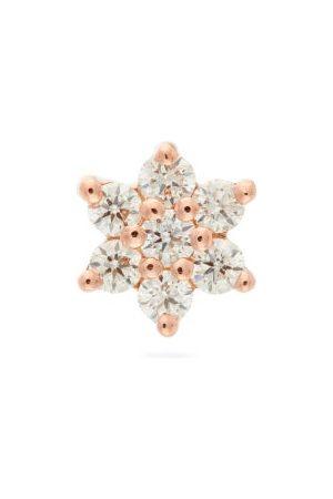 Maria Tash Diamond Flower 18kt Rose Earring - Womens - Rose