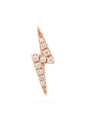 Maria Tash Lightning 18kt & Diamond Single Earring - Womens - Rose