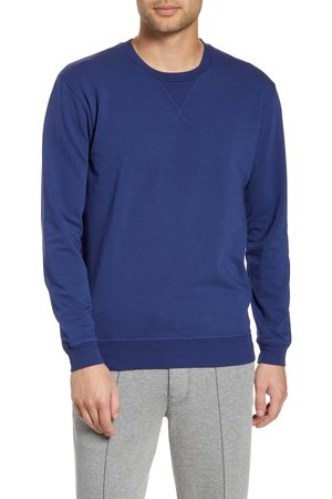 miss goodlife Men's Stretch Cotton Terry Crewneck Sweatshirt