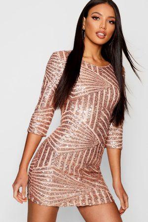 Boohoo Womens Boutique Sequin Bodycon Dress - - 2