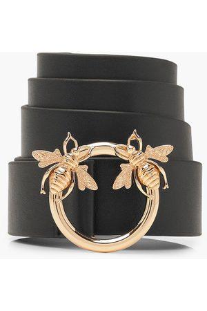 Boohoo Womens Bee Ring Boyfriend Belt - - One Size