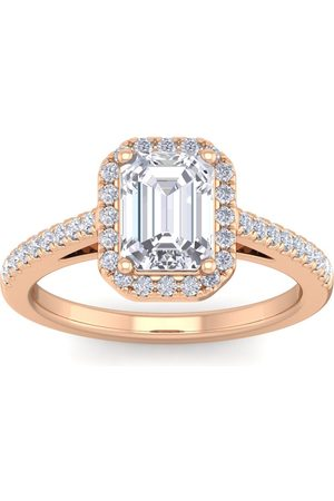 SuperJeweler 2 Carat Emerald Cut Halo Diamond Engagement Ring in 14K (4.30 g)