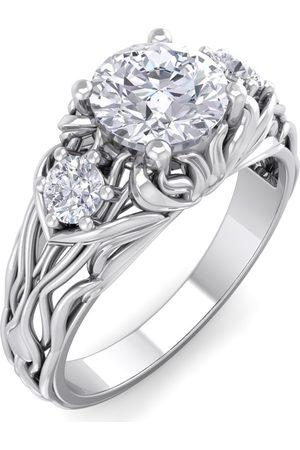 SuperJeweler 1 1/5 Carat Round Shape Diamond Intricate Vine Engagement Ring in 14K (4 g) (