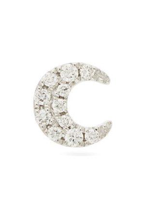 Maria Tash Moon Diamond & 18kt White-gold Single Earring - Womens