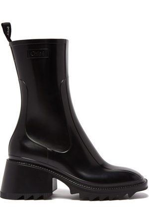 Chloé Women Heeled Boots - Betty Block-heel Rubber Boots - Womens