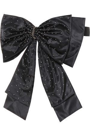 Erdem Embellished silk bow belt