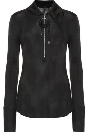 Ellery Stretch-knit zip-front top