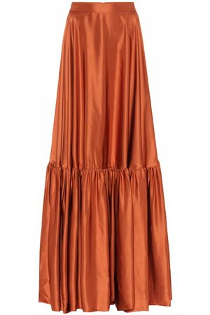 Plan C Taffeta maxi skirt
