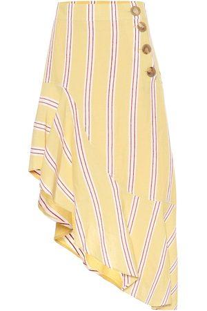 REJINA PYO Striped cotton-blend skirt