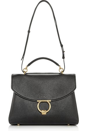 Salvatore Ferragamo Margot Medium Leather Satchel